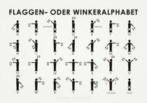 Flaggen- oder Winkeralphabet by Iris Luckhaus