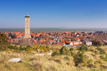 West-Terschelling and Brandaris lighthouse on Terschelling island, The Netherlands by Sara Winter