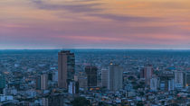 Guayaquil Aerial Cityscape View Sunset Scene by Daniel Ferreira Leites Ciccarino