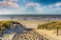 Weg durch die Dünen zum Strand. by Peter Roder