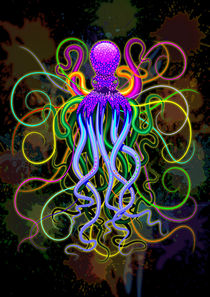 Octopus Psychedelic Luminescence by bluedarkart-lem