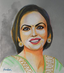 Neeta-ambani-watercolor