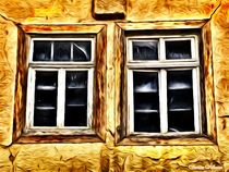 Simply 2 Wooden Windows by Sandra  Vollmann