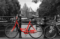 Red Bicycle By The Canal von Aidan Moran