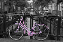 Pink Bicycle By The Canal von Aidan Moran