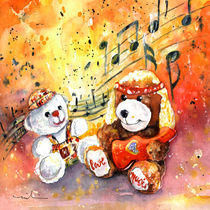 Doggy Guitar And His Roadie by Miki de Goodaboom