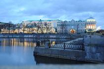 city before dawn by Natalia Akimova