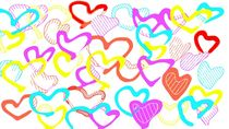 colorful heart background by timla