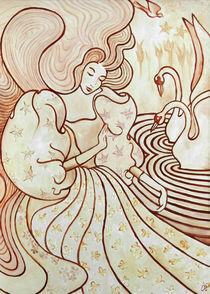 Swans-art-deco