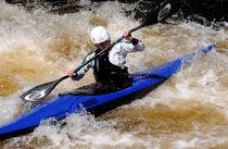Canoeing On The Afon Tryweryn by Harvey Hudson