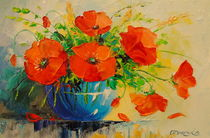 Bouquet of poppies in vase von Olha Darchuk