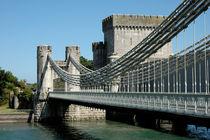 Conwy Suspension Bridge von Harvey Hudson