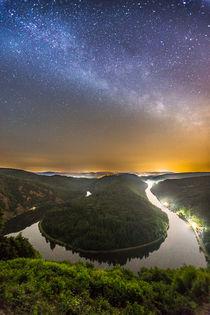 Milchstraße über der Saarschleife von Felix Gross