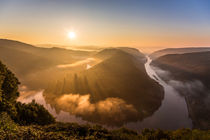 Sonnenaufgang an der Saarschleife von Felix Gross