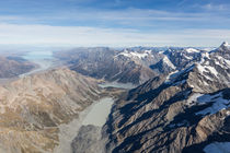 Aerial View of Hooker Valley von Felix Gross