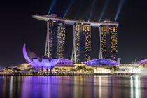 Laser Show at Marina Bay Sands - Singapore von Felix Gross