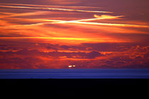 Sunset Over Ynyslas by Harvey Hudson