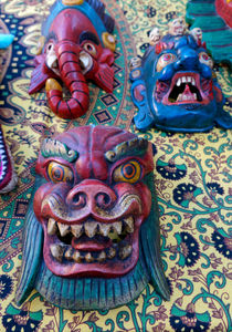 Traditional Nepalese Masks by John Mitchell