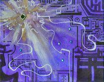 Purple Techno Burst von sbappel