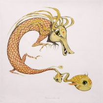 dragon with fish by federico cortese