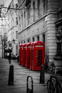 telephone box, London von Kevin  Keil