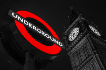 Underground, Big Ben, London von Kevin  Keil