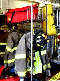 Uniforms Inside Firehouse von Susan Savad