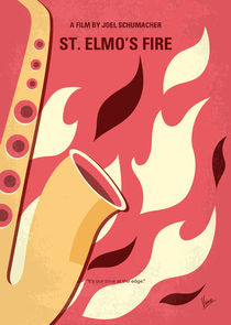 No657 My St Elmos Fire minimal movie poster by chungkong
