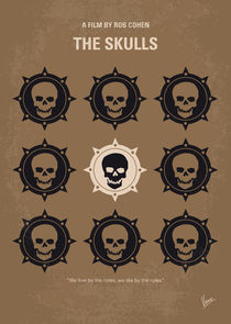 No662 My The Skulls minimal movie poster von chungkong