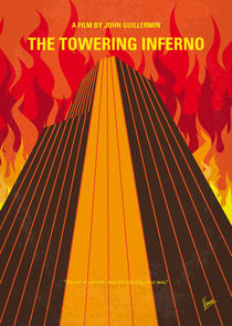 No665 My The Towering Inferno minimal movie poster by chungkong