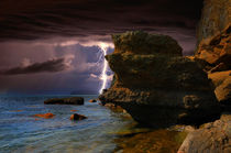 Lightning among the rocks by Yuri Hope
