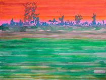Landscape with Striped Field von Heidi  Capitaine