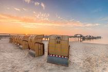 Kellenhusen Ostsee Seebrücke Strandkörbe von Dennis Stracke