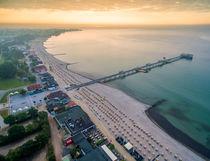 Kellenhusen Ostsee Seebrücke Strand Luftaufnahme von Dennis Stracke