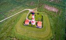 Westerhever Luftaufnahme Leuchtturm von Dennis Stracke