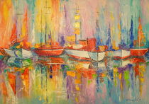 Boats in the Harbor von Olha Darchuk