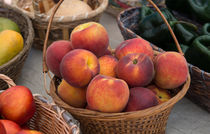 Beautiful Peaches in a Basket by Michael Moriarty