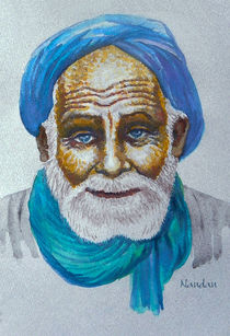 Watercolor-turbaned-old-man