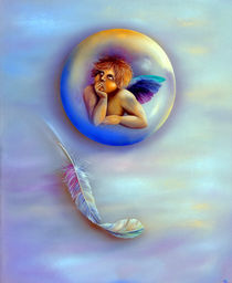 Auch Engel lassen Federn  by Annelie Dachsel-Widmann