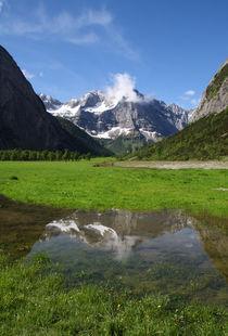 Die Eng und großer Ahornboden im Spiegelbild, Naturschutzpark, von Regina Müller