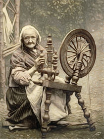 'The old spinner' by Wolfgang Pfensig