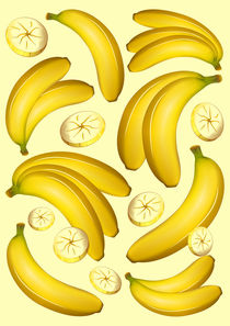 Banana Fruity Pattern  by bluedarkart-lem