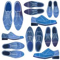 Blue Brogue Shoes von Nic Squirrell