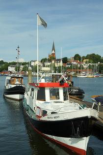 Im Hafen von Flensburg von Sabine Radtke