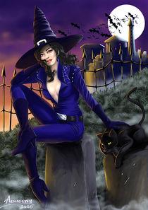 Halloween Sexy Witch by Merche Garcia