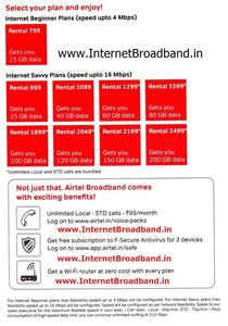 airtel broadband plans chandigarh by Broadband Chandigarh