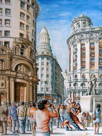 Straße in Buenos Aires von Ronald Kötteritzsch