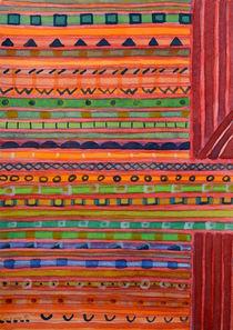 Decorated Stripes Pattern Between Red von Heidi  Capitaine