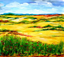 Sommerliche Landschaft by Eberhard Schmidt-Dranske