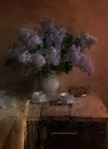 Still life with fresh lilacs von Jarek Blaminsky